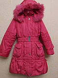 Пальто-куртка удлиненная для девочки 6-10 лет, фото 2