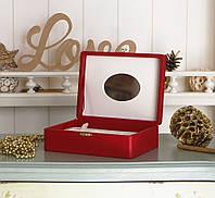 Шкатулка для ювелирных украшений 18*13*5,8 Гранд Презент 603432 красная, фото 1