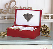 Шкатулка для ювелирных украшений   22*13,6*7,5 Гранд Презент 603426 красная