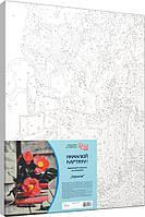 Набір-стандарт техніка акриловий живопис за номерами Ніжність квітів