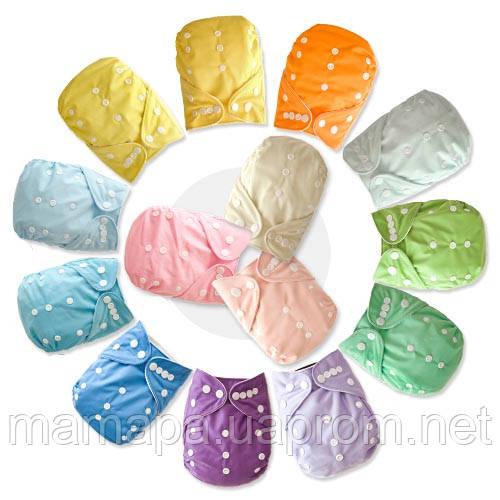 Подгузники многоразовые 3-16кг Флисовые для детей универсальные непромокаемые дышащие (Однотонные)