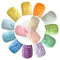 Многоразовые подгузники однотонные для детей с рождения, фото 1