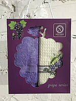 Набор кухонных полотенец nilteks вафельное grape series 40*60 2 шт #S/H