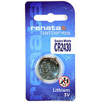Батарейка литиевая RENATA CR2430, 3V,  285 mAh (Li/MnO2)