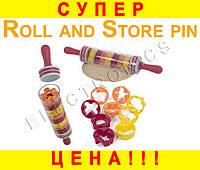 Скалка для теста Roll and Store Pin с формами + ПОДАРОК: Держатель для телефонa L-302