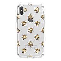 Чехол силиконовый для Apple iPhone (Маленькая обезьянка паттерн) 5/5s/SE 6/6s 6+/6s+ 7/7 plus 8/8+ 11 Pro про эпл айфон плюс X XS XsMax XR silicone