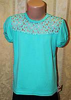 Блузка трикотажная для девочки. Школьная форма, фото 1