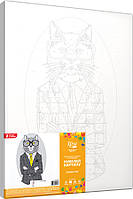 Набір-стандарт картина за номерами Fashion Cat, фото 1