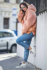 Стильная меховая куртка размеры: S-M,L-XL, фото 3