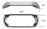 Металлический браслет серебристый с магнитной застёжкой для фитнес трекера Xiaomi mi band 4 / 3, фото 3