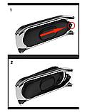 Металлический браслет серебристый с магнитной застёжкой для фитнес трекера Xiaomi mi band 4 / 3, фото 4