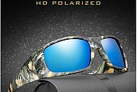 Поляризационные тактические камуфлированные солнцезащитные очки для рыбалки, охоты + камуфлированный футляр.