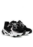 Женские кроссовки черные на толстой подошве с вставками из натуральной замши lifexpert (осень, весна)