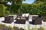 Набор садовой мебели Corona Set With Cushion Box Brown ( коричневый ) из искусственного ротанга, фото 10