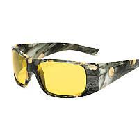 Поляризационные тактические камуфлированные солнцезащитные очки для рыбалки, охоты+ камуфлированный футляр.