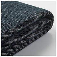 VIMLE Чехол угловой диван-кровать для 4 человек, с открытым концом, Tallmyra черный/серый