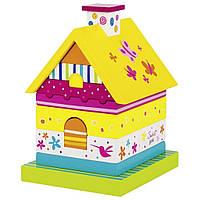 Развивающая игрушка Goki Пирамидка Домик Susibelle (58549G)