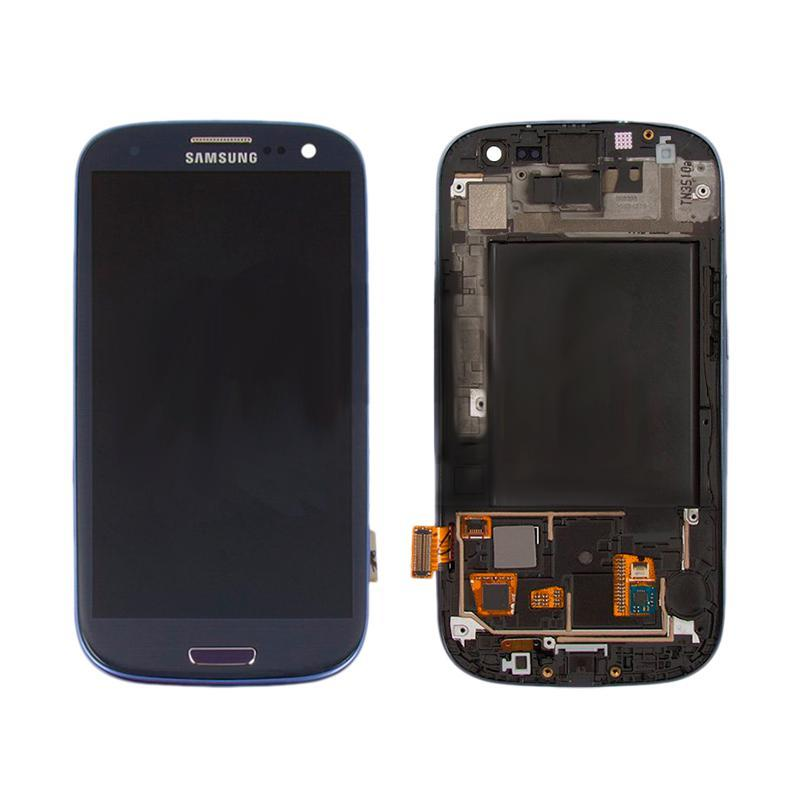 LCD Samsung i9300 + touch + frame Blue Copy