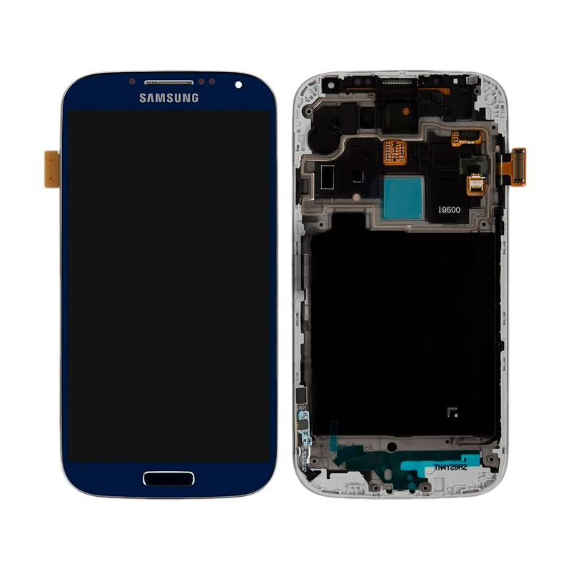 LCD Samsung i9500 + touch with frame Blue Copy