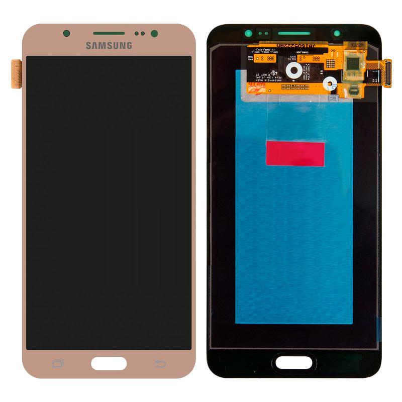 LCD Samsung J710H/J7-2016 + touch Gold (100% Service OR)