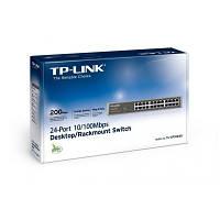 Коммутатор неуправляемый TP-LINK TL-SF1024 (24 портов Fast Ethernet (10/100), Мониторинг и конфигурирование: н