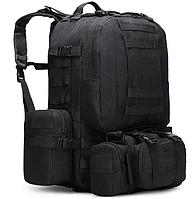 Рюкзак тактический черный + сумка+ 2 подсумка, фото 1