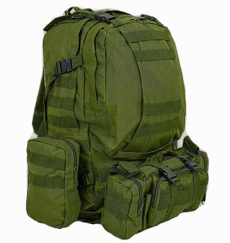 Рюкзак тактический в расцветке олива + сумка+ 2 подсумка