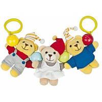 Подвески-цепочки Погремушка на коляску Мишки, Canpol babies (2/613), Разноцветный
