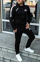 Мужской спортивный костюм Nike Air с капюшоном черный