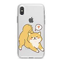 Чехол силиконовый для Apple iPhone (Прекрасная Сиба Ину) 5/5s/SE 6/6s 6+/6s+ 7/7 plus 8/8+ 11 Pro про эпл айфон плюс X XS XsMax XR silicone case
