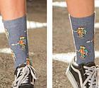 Шкарпетки Neseli Роботы серые, фото 2