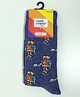 Шкарпетки Neseli Роботы серые, фото 3