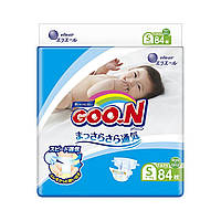 Подгузники GOO.N для детей 4-8 кг (размер S, на липучках, унисекс, 84 шт) (853621)