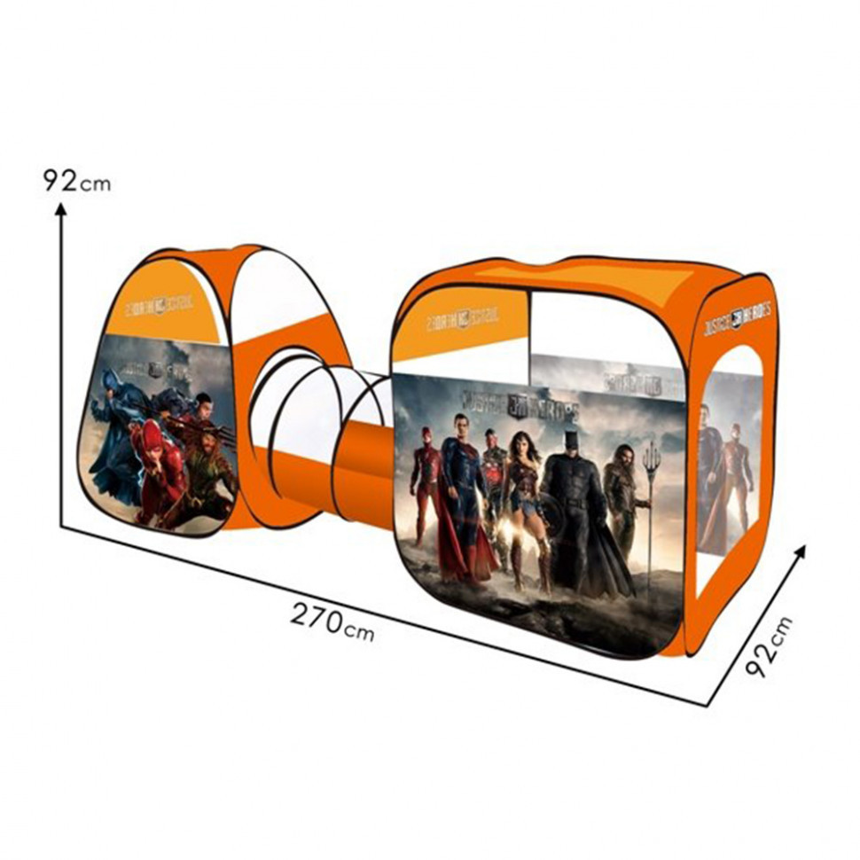 Палатка M 6118 (6шт) супергерои, с тоннелем