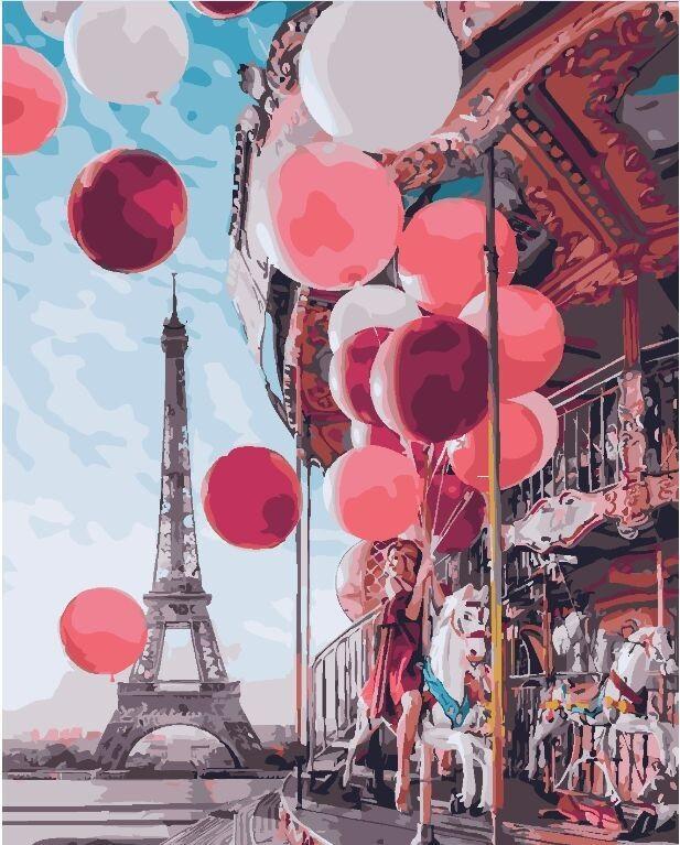 "Картина по номерам. Brushme ""Карусель в центре Парижа"" GX24914"