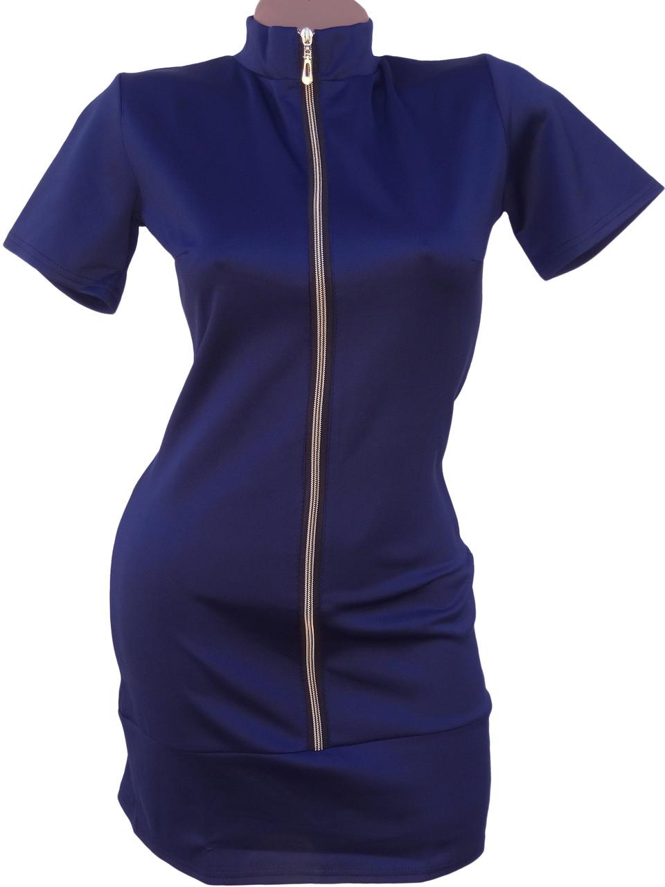 Стильное короткое платье на молнии