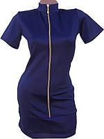 Стильное короткое платье на молнии, фото 1