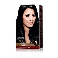 25417 Oriflame. Cтойкая краска для волос HairX TruColour - Тон 2.1., Иссиня-черный, 125 мл. Орифлейм 25417