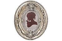 Рамка для фото Элизабет 14.5см, цвет - серебро антик с золотой патиной, полистоун (450-189)