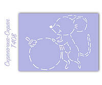Трафарет для пряников мышка