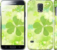 "Чехол на Samsung Galaxy S5 Duos SM G900FD Клевер ""459c-62"""
