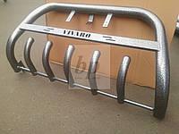 Защита переднего бампера (кенгурятник) порошок/ черный мат Opel vivaro (опель виваро 2001+)