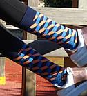 Шкарпетки Neseli Візерунок Куби сині, фото 2