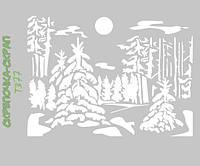 Трафарет лес