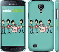 "Чехол на Samsung Galaxy S4 mini Битлз на бирюзовом фоне ""179c-32"""