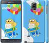 "Чехол на Samsung Galaxy Note 4 N910H Adventure time. Finn and Jake v3 ""2453c-64"""