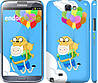 "Чехол на Samsung Galaxy Note 2 N7100 Adventure time. Finn and Jake v3 ""2453c-17"""