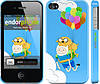 "Чехол на iPhone 4s Adventure time. Finn and Jake v3 ""2453c-12"""