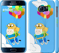 "Чехол на Samsung Galaxy S6 G920 Adventure time. Finn and Jake v3 ""2453c-80"""