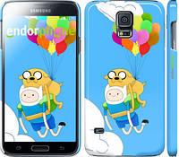 "Чехол на Samsung Galaxy S5 g900h Adventure time. Finn and Jake v3 ""2453c-24"""